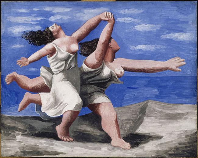 Pablo Picasso, Due donne che corrono lungo la spiaggia (La corsa), gouache su compensato, 32,5 × 41,1 cm, 1922, Parigi, Musée Picasso © Succession Picasso by SIAE 2015