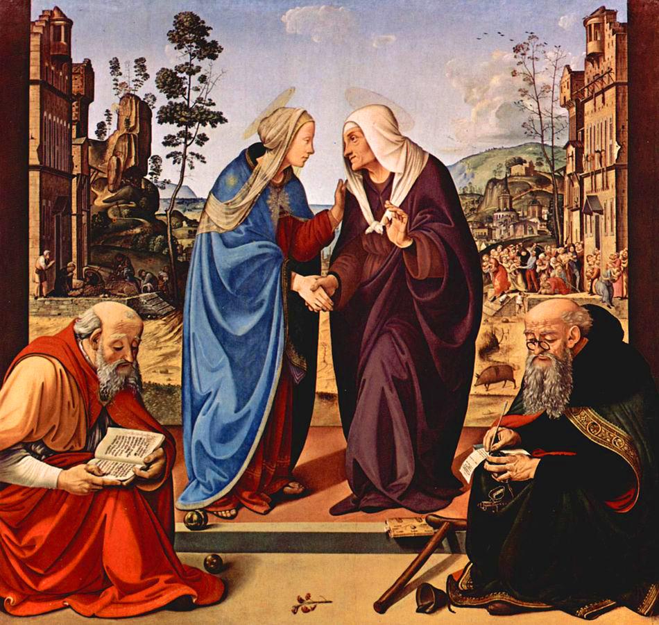 Piero di Cosimo, Visitazione tra i santi Nicola e Antonio abate (1490 circa), Washington, National Gallery