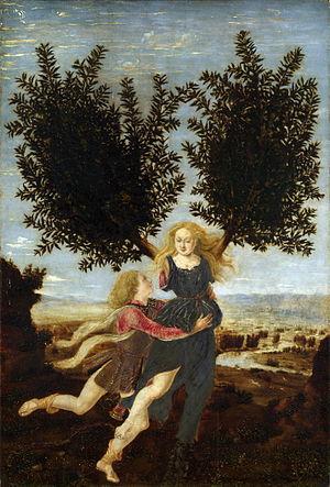 Apollo e Dafne è un dipinto olio su tavola (29,5x20 cm) attribuito a Piero del Pollaiolo e/o a suo fratello Antonio), databile al 1470-1480 circa e conservato nella National Gallery di Londra
