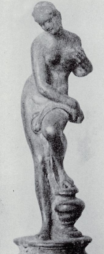 Una figura femminile scolpita da Pierino da Vinci