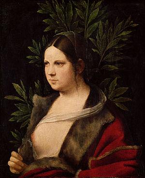 Laura è un dipinto a olio su tela incollata su tavola (41x33,5 cm) di Giorgione, firmato e datato 1506. La giovane donna regge il ramo d'alloro, che si lega al nome Laura