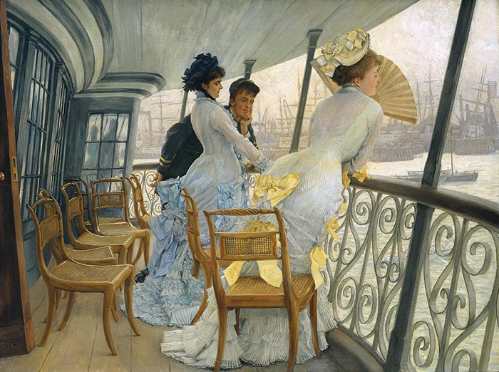 James Tissot (1836–1902) The Gallery of HMS Calcutta (Portsmouth), 1876