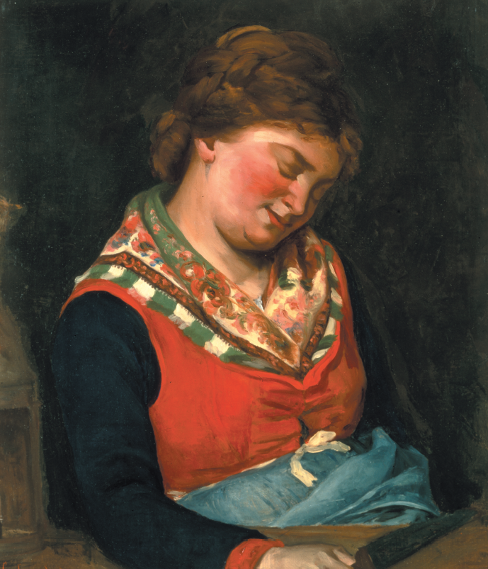 "Gustave Courbet, ""Paysanne endormie"""