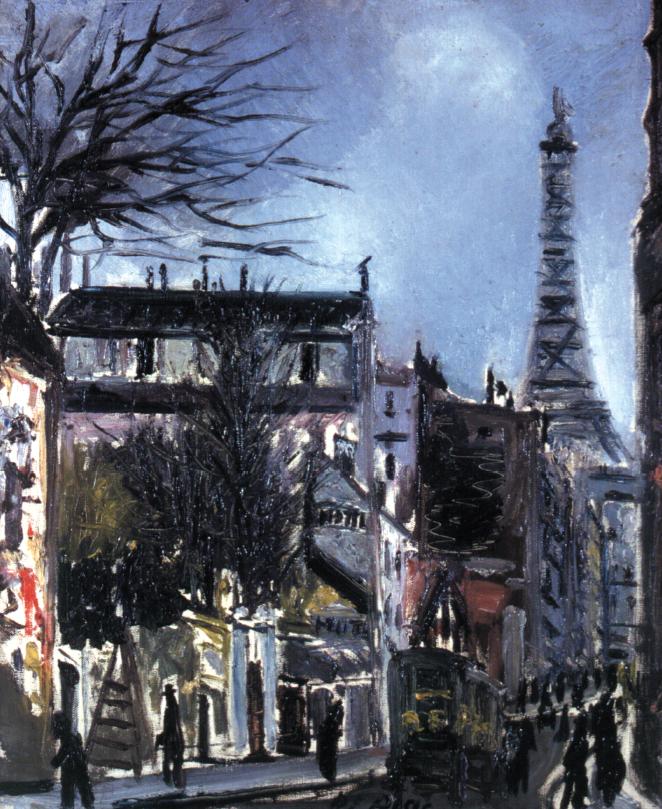 """Filippo De Pisis, """"Rue des volontaires (Parigi con la tour Eiffel)"""", 1925"""