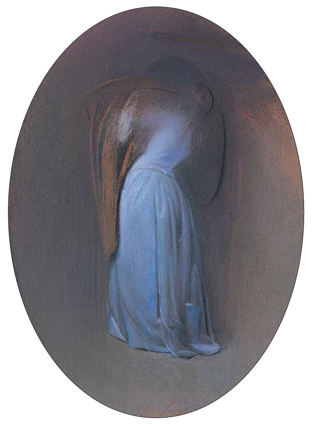 """Piero Guccione, """"Magico incanto! Perfido errore! (per Tristano e Isotta)"""", pastello, 1998"""