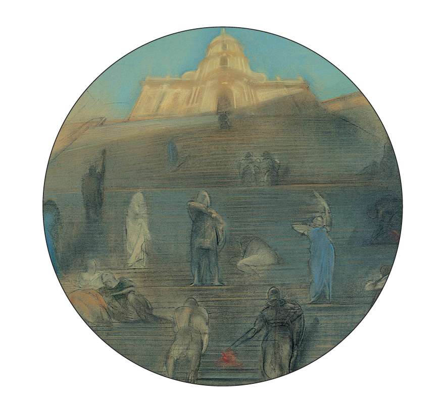 """""""Figure per il Teatro Garibaldi"""", pastello su carta, 1999"""
