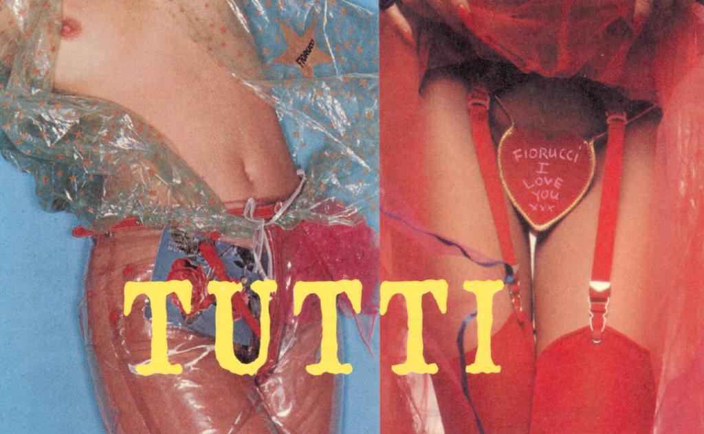 """Due celebri fotografie di Antonio Lopez per Fiorucci: """"Nudo in Pvc"""" (1978) e """"Cuore di slip"""" (1979)"""