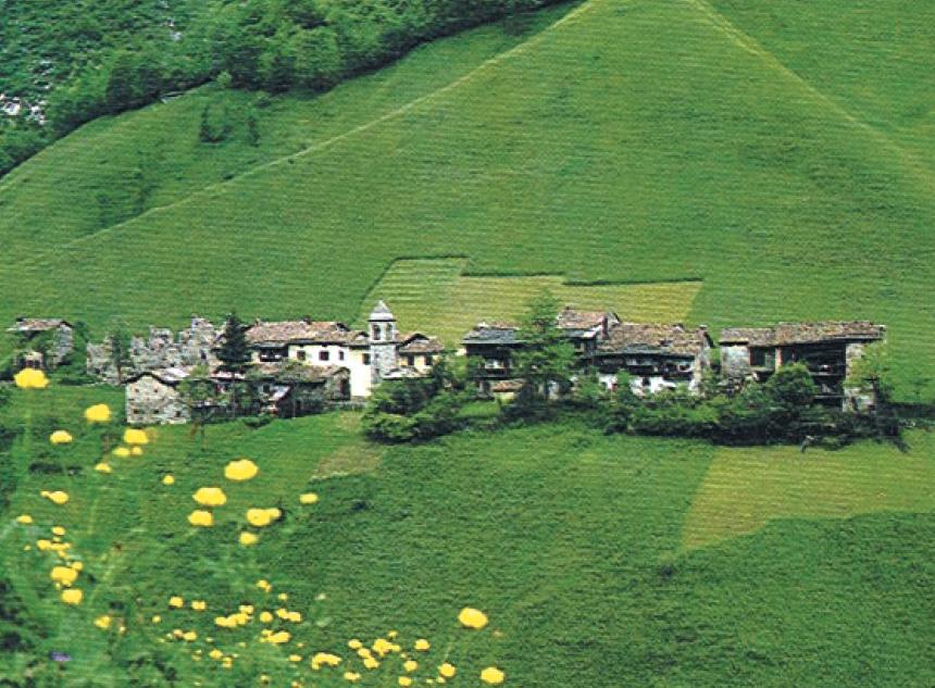 Una frazione di Ardesio, il paese d'origine della famiglia di Moretto