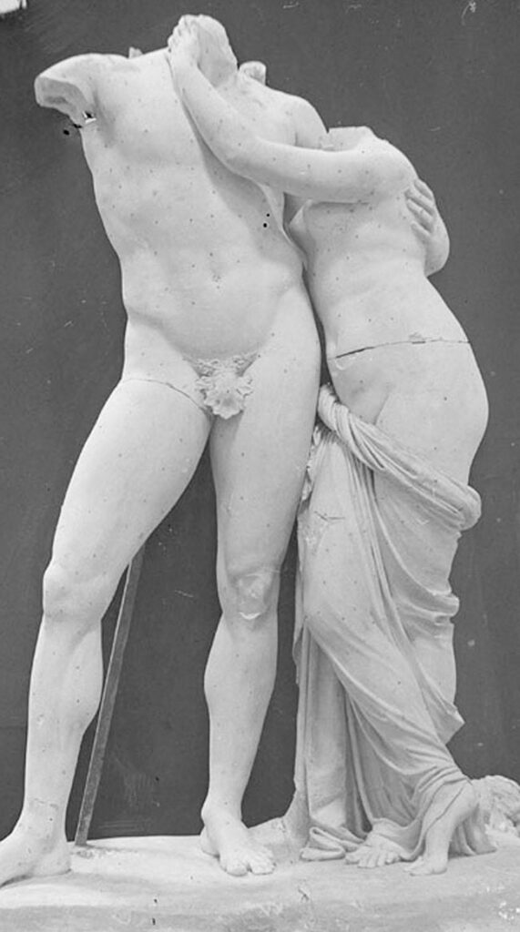 Antonio Canova: Venere e Marte. Foto di Stefano Serafin, 1918