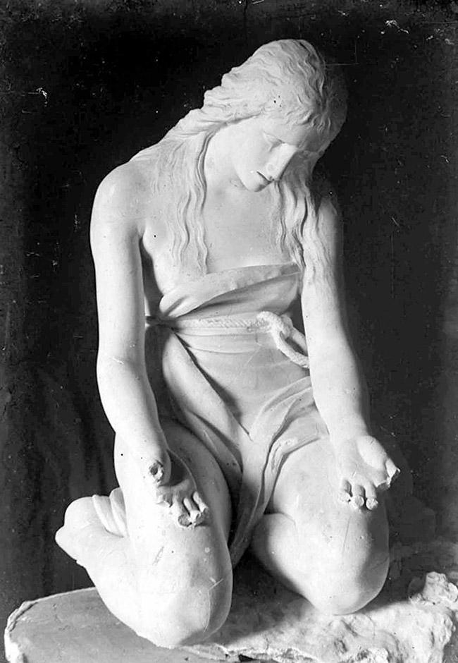 Antonio Canova: Maddalena Penitente. Foto di Stefano Serafin, 1918