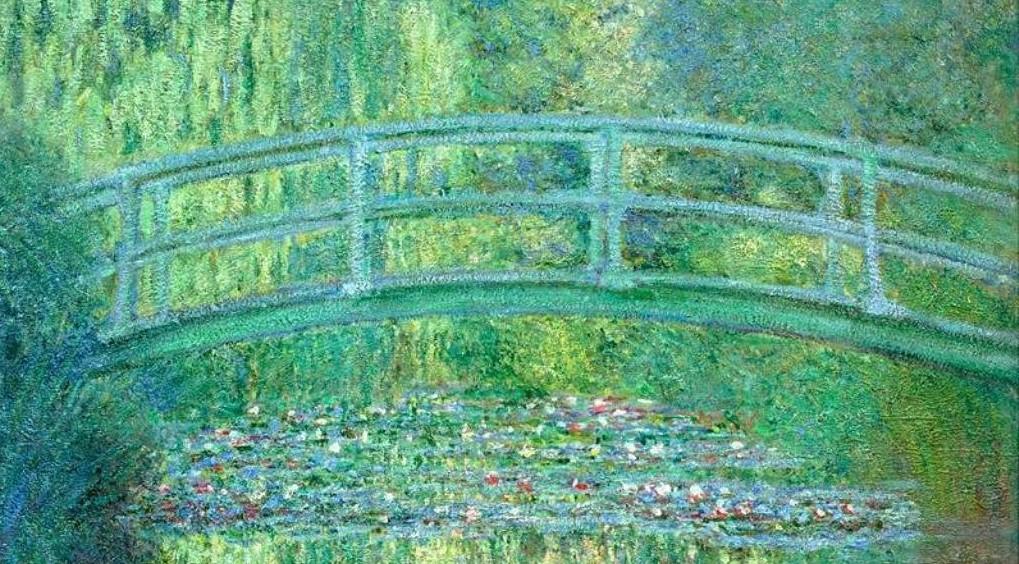 Il ponte giapponese di Monet. L'artista fece realizzare il manufatto nello stagno creato con la deviazione de fiume a Giverny