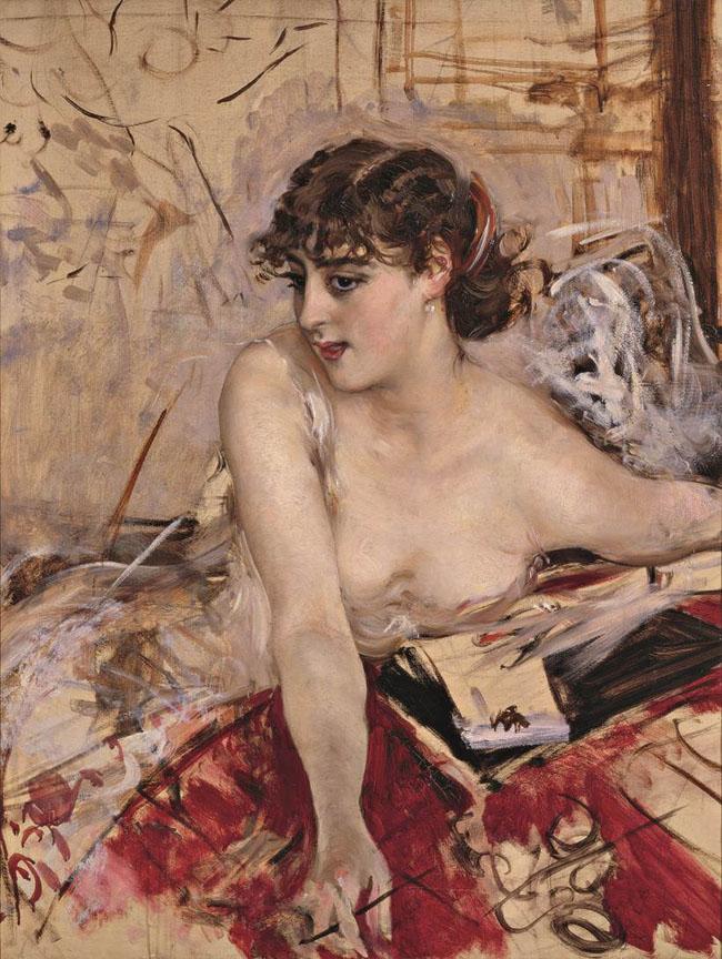 Giovanni Boldini, Lettera mattutina, 1884 circa, olio su tela, 90 x 74 cm