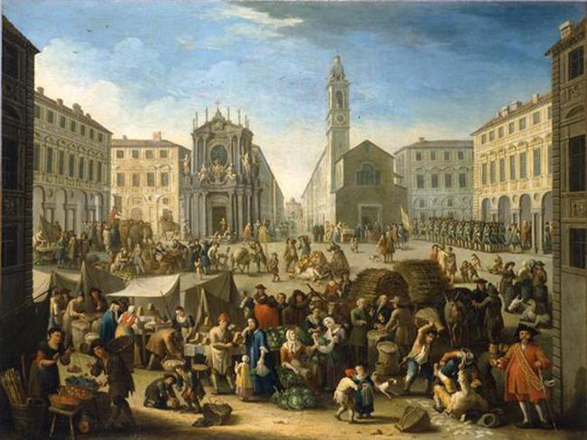 Giovanni Michele Graneri, Mercato in piazza San Carlo