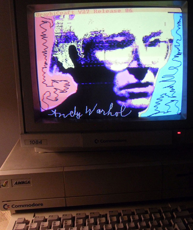 Andy Warhol Autoritratto, 1985, Amiga 1000