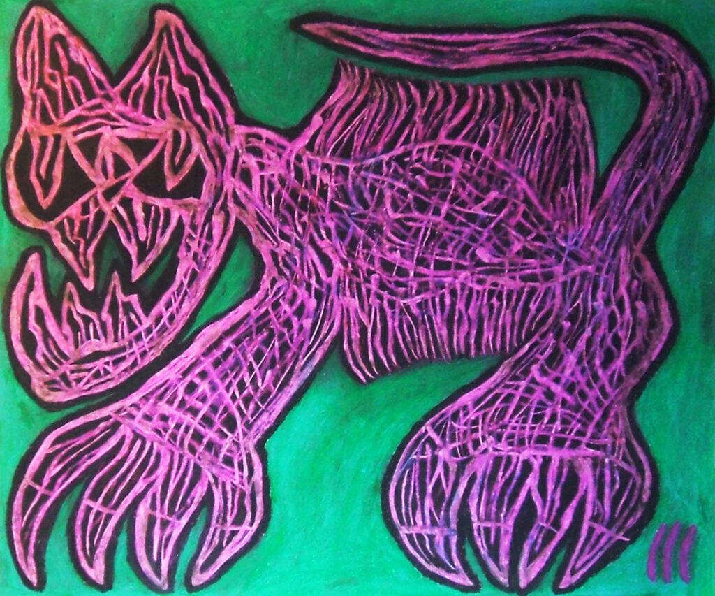 GARGANO  felino furioso (2015) 48x58cm