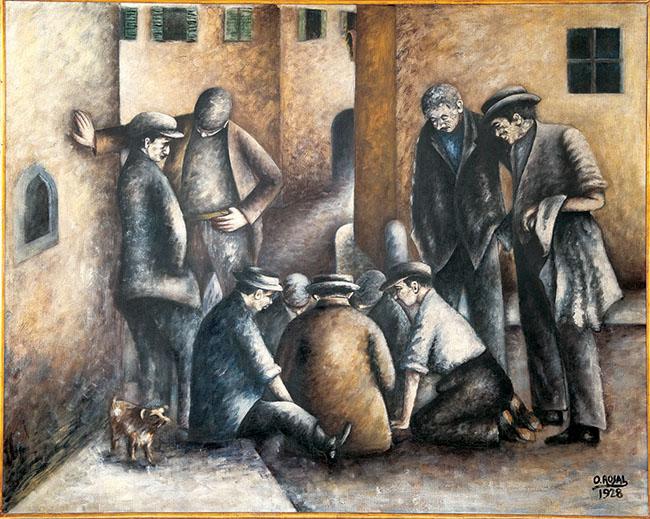 Ottone Rosai I giocatori di Toppa 1928. Collezione Banca Monte dei Paschi di Siena