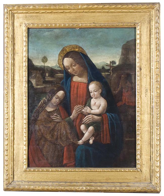 Bernardino Licinio (e bottega) , Sposalizio mistico