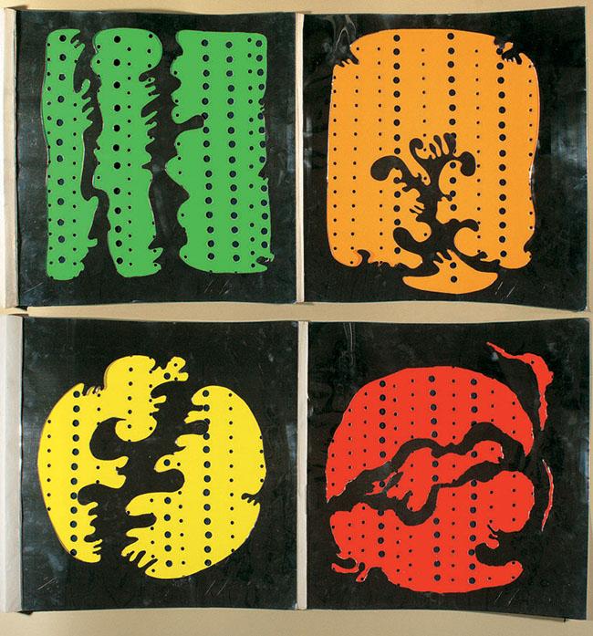 Salvatore Quasimodo e Lucio Fontana 4 oggetti di Lucio Fontana e 2 poesie di Salvatore Quasimodo Milano Sergio Tosi 1965 Firenze Biblioteca Nazionale Centrale