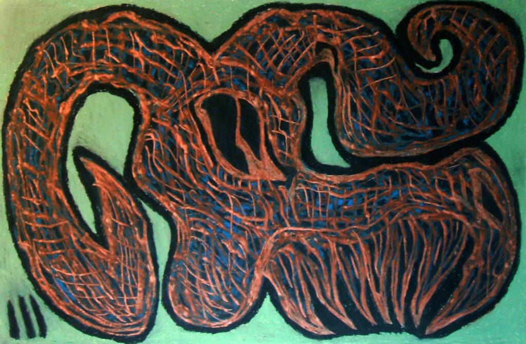 gargano teschio di caprone (2015) 38x58cm