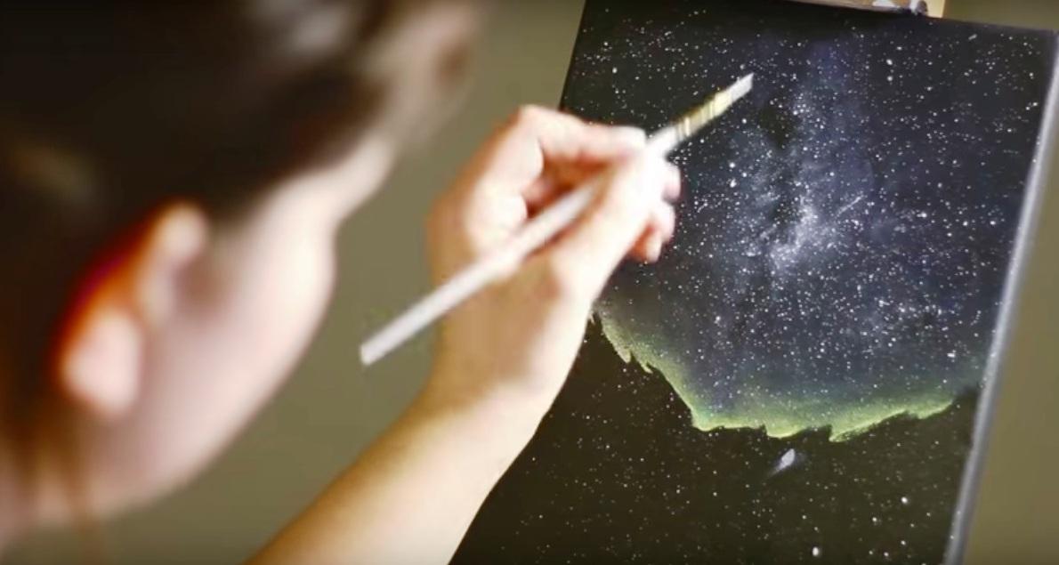 Come Si Dipinge O Si Disegna Lo Splendore Del Cielo Stellato Stile