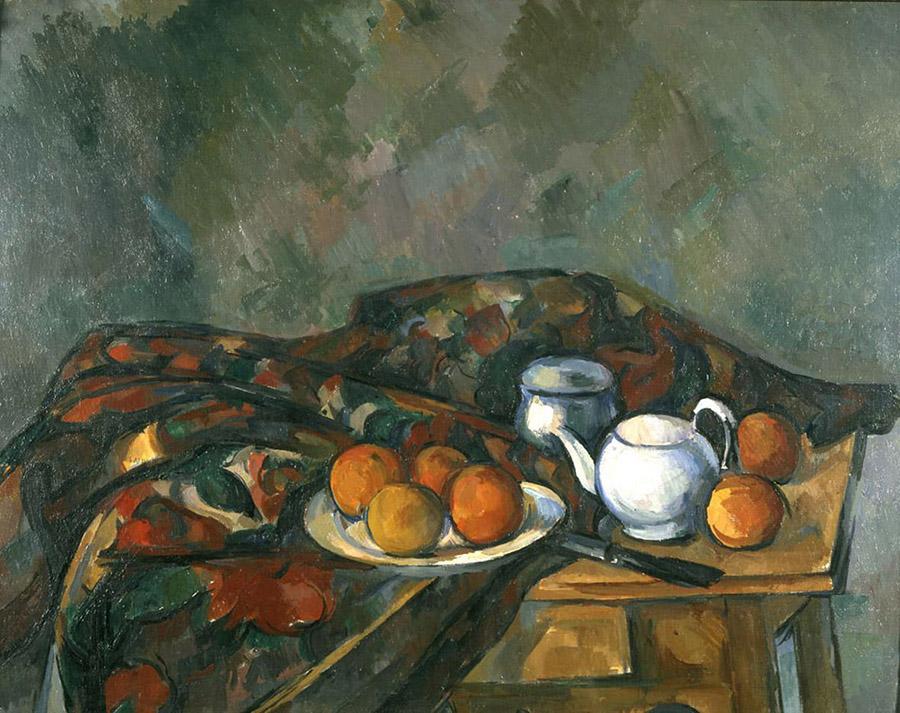 Paul Cézanne, Natura morta con teiera, 1902-1906 olio su tela, cm 61,4 x 74,3 Cardiff, Amgueddfa Cymru - National Museum Wales