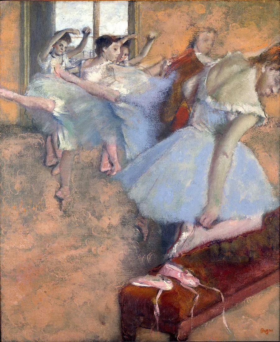 Edgar Degas, Lezione di danza, 1880 circa olio su tela, cm 62 x 50,5 collezione privata