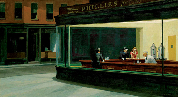 Edward Hopper, Nighthawks, 1942, Art Institute of Chicago