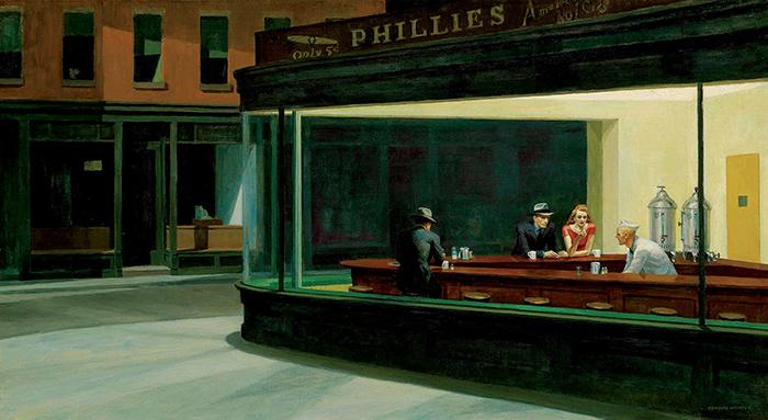 Edward Hopper, Nighthawks, 1942, Art Institute of Chicago
