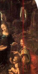 Fig. 3 Vergine delle rocce - particolare