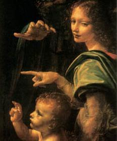 Fig. 4 Vergine delle rocce - Particolare