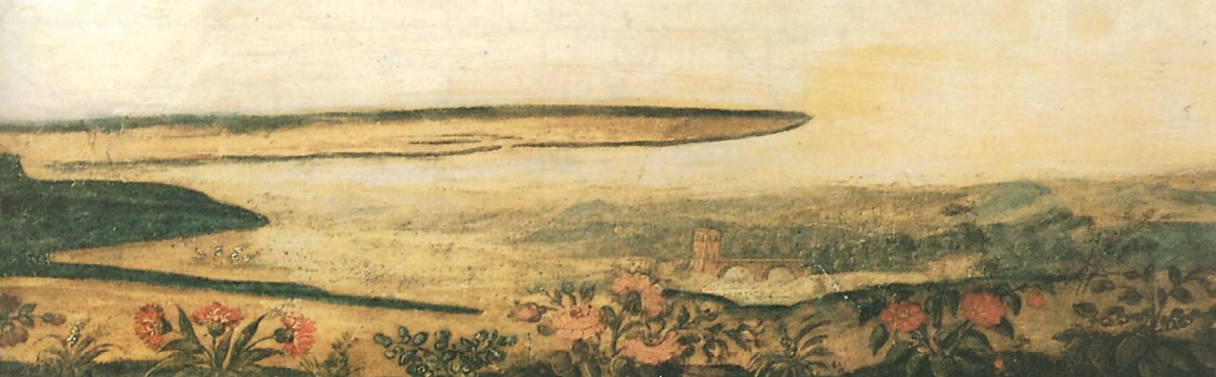 "Anonimo, particolare de ""La Maddalena alla Sainte Baume"", dipinto su carta, 1662"