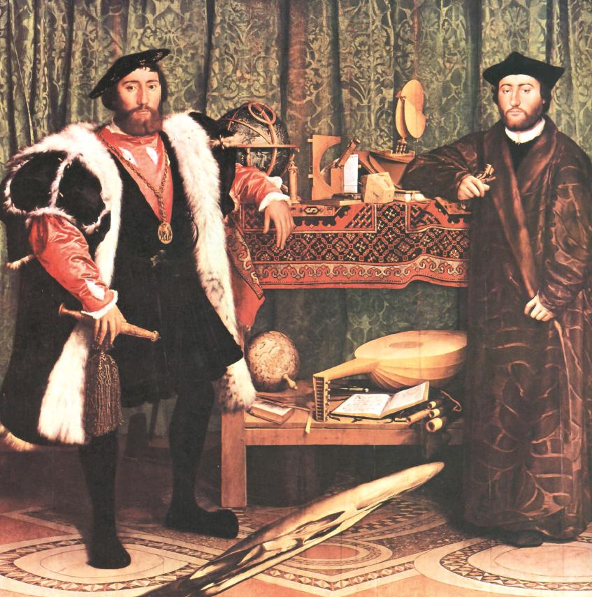 "Hans Holbein, ""Gli ambasciatori"", 1533"