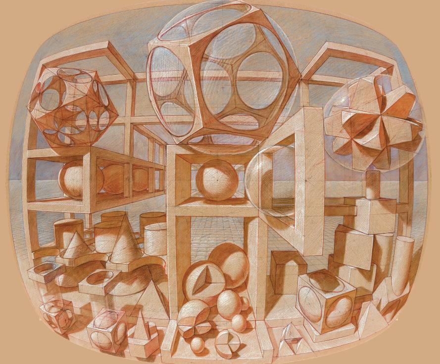 Esaminiamo con attenzione la tavola di Wenner qui sotto. Essa è, di fatto, il passaggio a un orizzonte percettivo e rappresentativo nuovo, come combinazione di due sistemi prospettici. Se il nucleo centrale del disegno si basa sulla prospettiva di fuga centrale e reale, le linee più distanziate dal centro si arrotondano, come se seguissero la curvatura dell'occhio. L'artista tiene conto dell'interazione delle due regole prospettiche per produrre gli straordinari effetti visivi dei suoi dipinti.