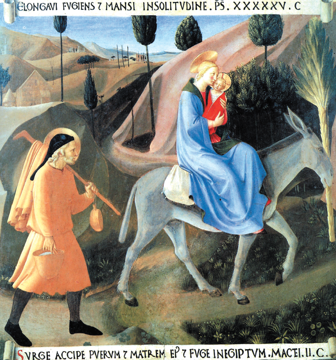 "Beato Angelico, ""Fuga in Egitto"", Firenze, Museo di San Marco"