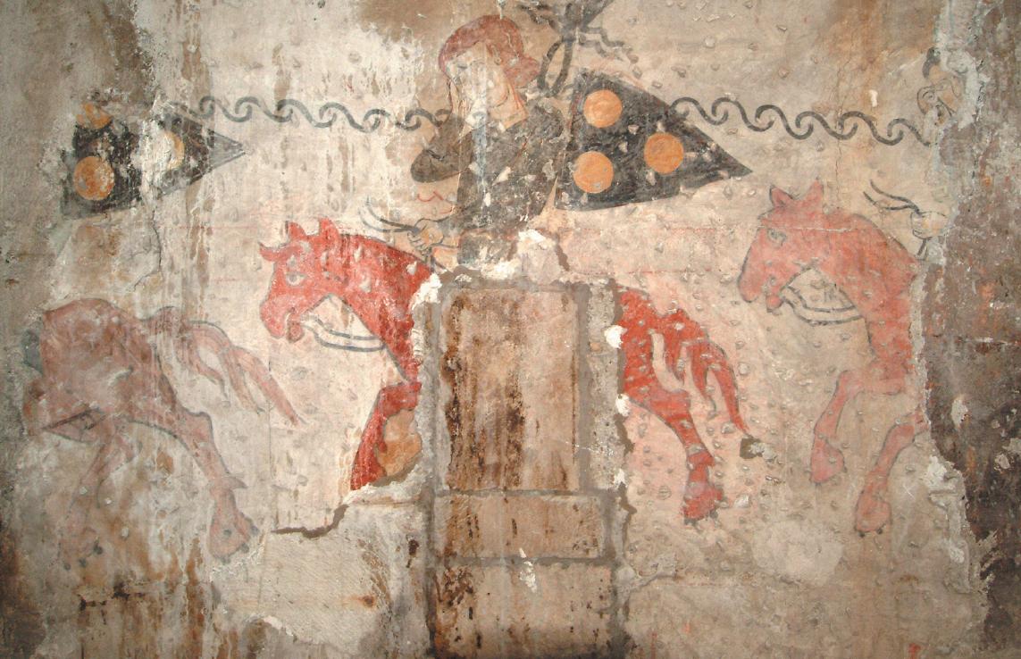 Nelle immagini, per gentile concessione dei Musei d'arte e storia di Brescia, gli affreschi del disonore, presenti in Broletto
