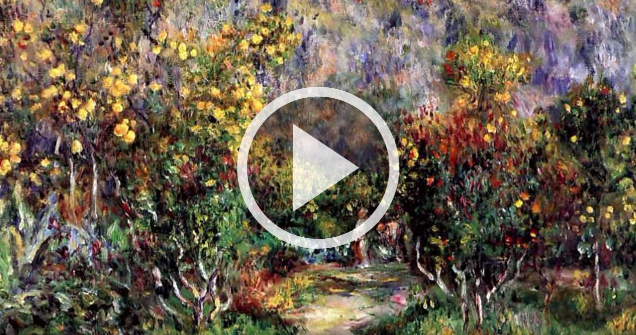 Renoir giardini e fiori in pittura uno splendido video for Immagini di quadri con fiori