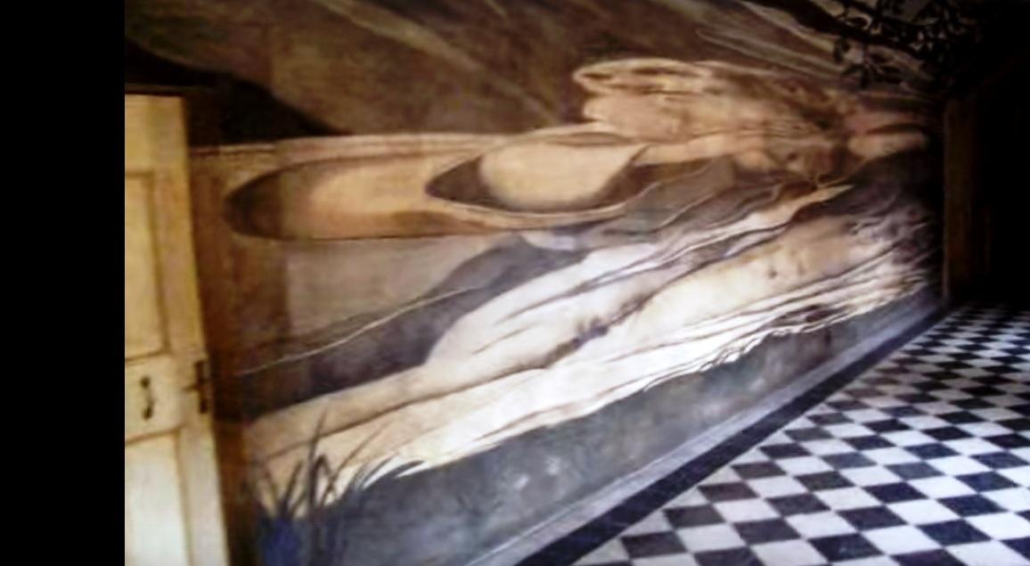 L'anamorfosi del ritratto di san Francesco di Paola, nell'omonimo convento di Roma