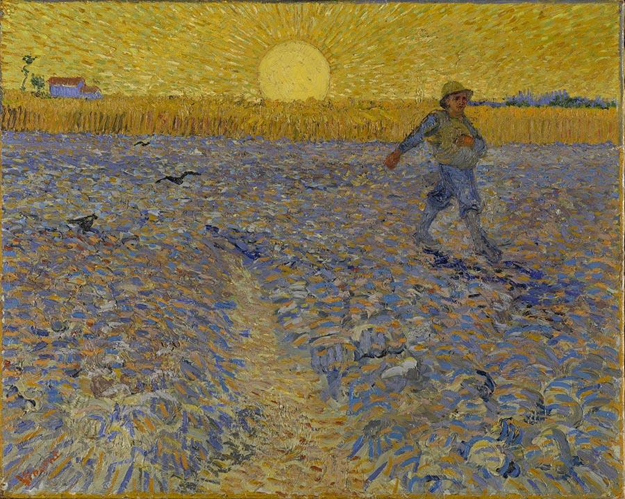 Vincent Van Gogh (Zundert 1853 - Auvers-sur- Oise 1890) Il seminatore 17 - 28 giugno 1888 ca. Olio su tela, 64,2x80,3 cm Kröller-Müller Museum, Otterlo, Netherlands © Collection Kröller-Müller Museum, Otterlo, the Netherlands www.krollermuller.nl