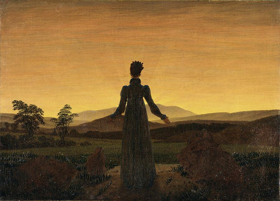 Donna al tramonto del sole1818