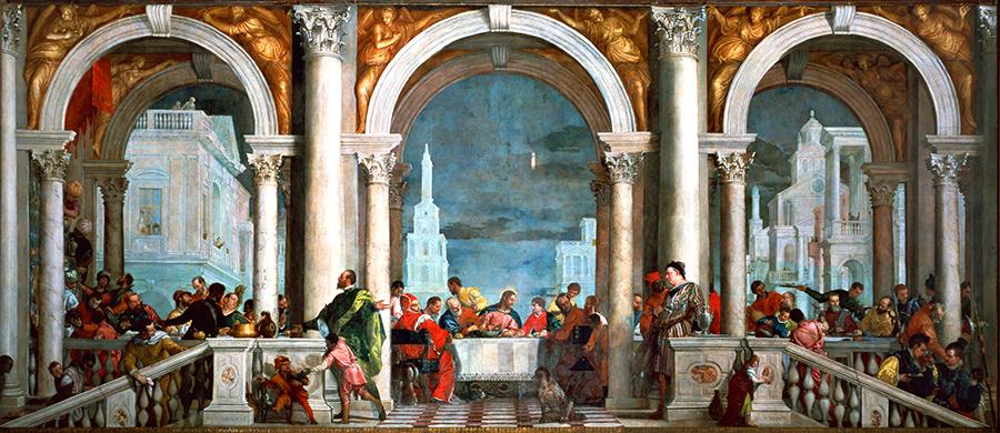 Paolo Veronese, Cena a casa di Levi, 1573, Gallerie dell'Accademia, Venezia.