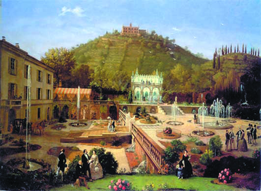"""Inganni, """"La Villa Richiedei a Gussago"""", 1859, olio su tela"""