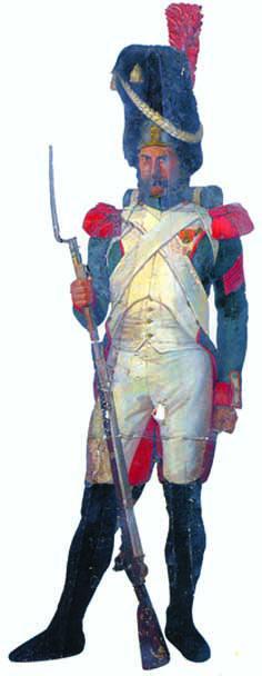 """Angelo Inganni, """"Ussaro"""", 1830-40 ca., sagoma a olio su tavola"""