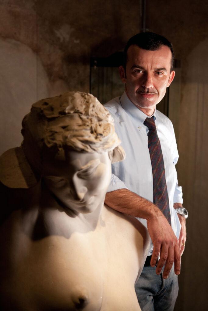 Alfonso Panzetta, Presidente della Giuria del premio internazionale di scultura Domenico Ghidoni (foto Andrea Rum)