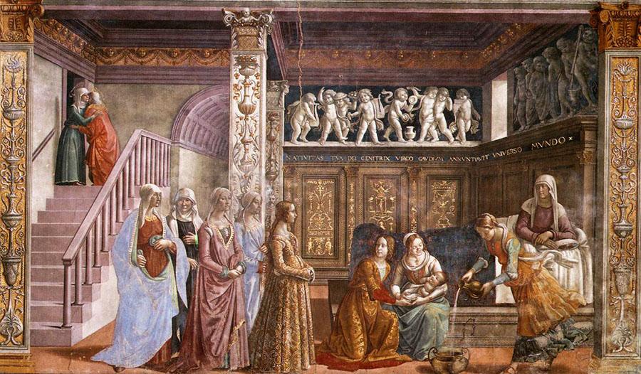 Cappella Tornabuoni, Nascita della Vergine