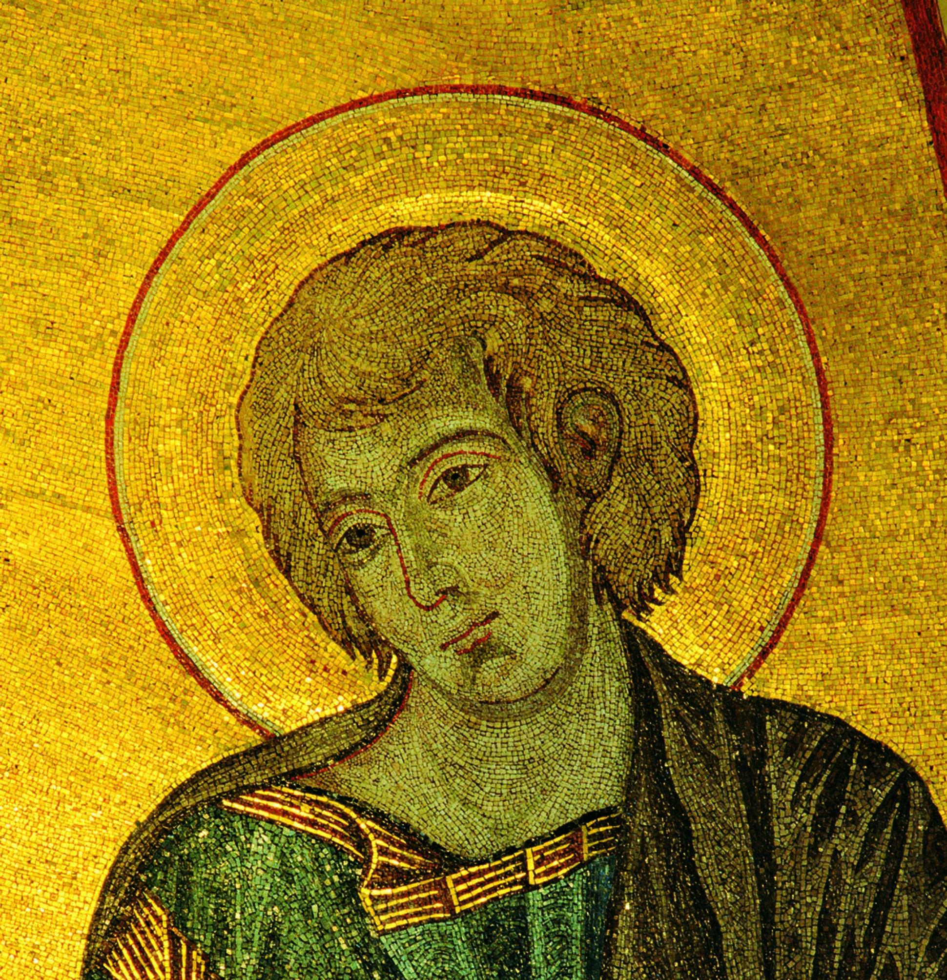 Cimabue, Mosaico absidale con San Giovanni Evangelista (particolare), Duomo di Pisa
