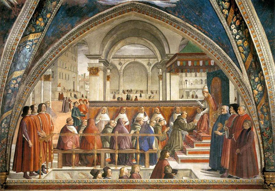 cappella Sassetti, Storie di san Francesco d'Assisi (1482-1485),