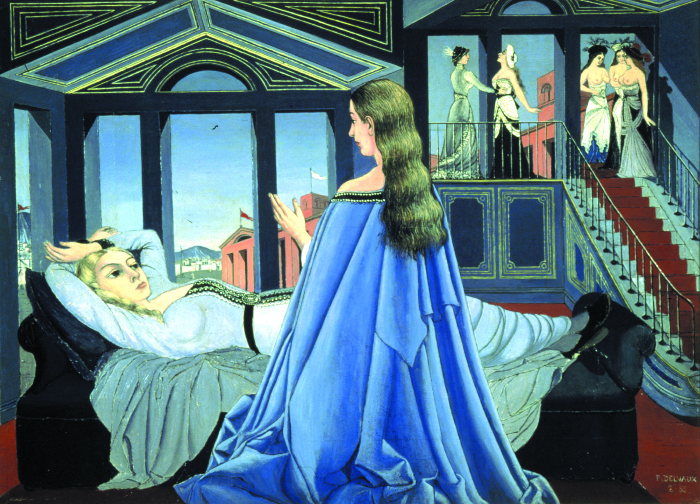 "Paul Delvaux, ""L'Annonciation"", 1955"