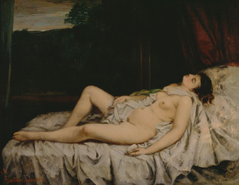Gustave Courbet_Sleeping Nude