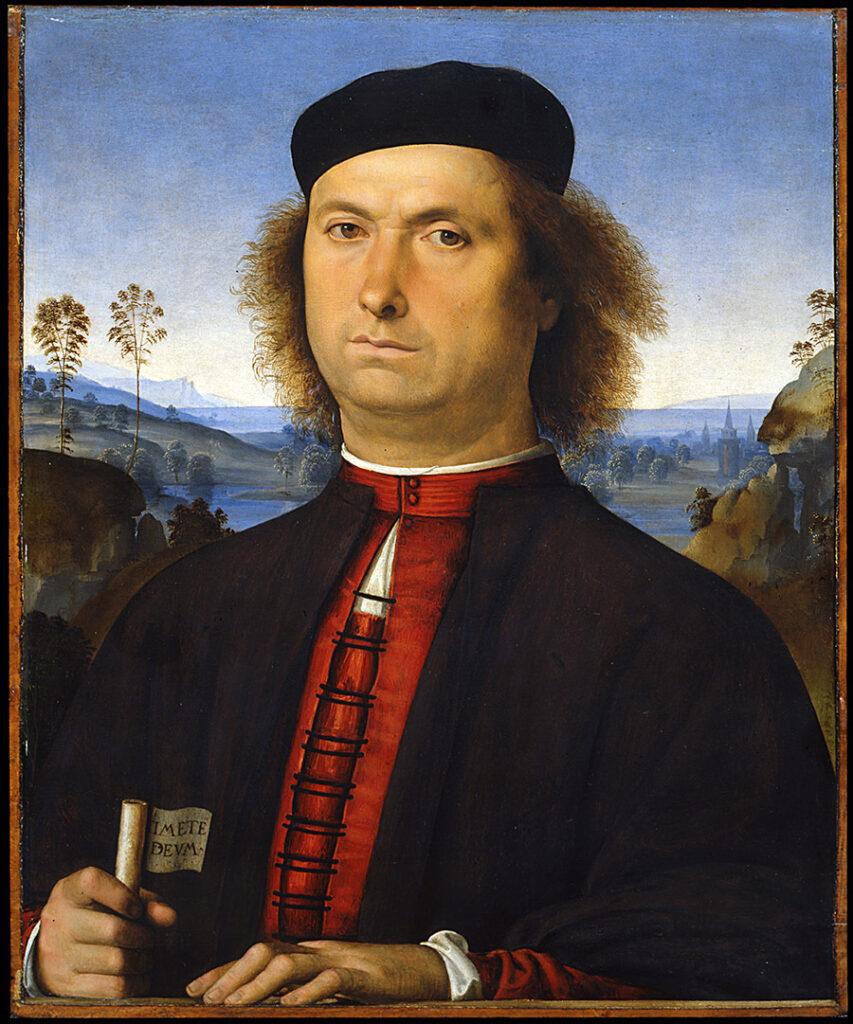 Perugino, Ritratto di Francesco delle Opere, olio su tavole, 1494, Galleria degli Uffizi