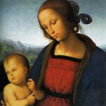 Perugino, Madonna col Bambino , part, 1501 circa, olio su tavola, 70,2×50 cm, National Gallery, Washington